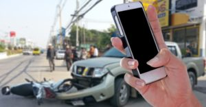 Gather evidence by taking pictures of a Seminole car accident.