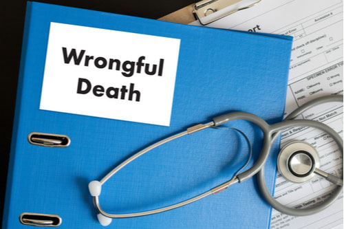 Image of folder labeled wrongful death and a stethoscope. Contact our Palm Harbor wrongful death lawyers.